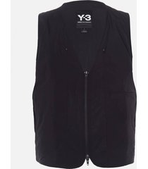 y-3 men's travel reversible insulated vest - black - xl