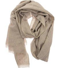 brunello cucinelli cashmere and silk diamond yarn scarf beige