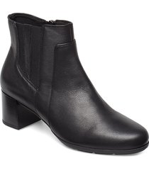 d new annya mid b shoes boots ankle boots ankle boots with heel svart geox