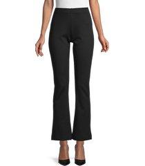 saks fifth avenue women's ponte flare pants - black - size m