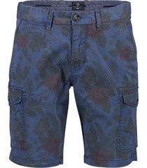 nza shorts raglan opgestikte zakken print blauw