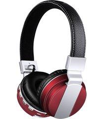 audífonos gamer, bt-008 libres audifonos bluetooth manos libres  auriculares plegables con cuero stent + hd mic fuerte inalámbrico estéreo inalámbrico + cable doble modo 4 colores (rojo)