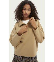 scotch & soda structured anorak sweater