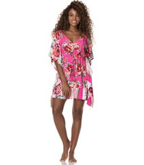vestido rosado-multicolor maaji swimwear exotic species forsythia