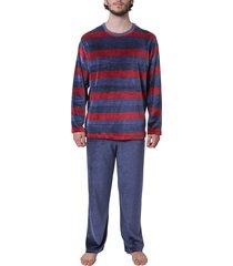 schiesser pyjama velours multi streep