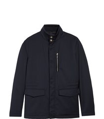 men's giorgio armani water repellent wool jacket