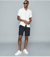 reiss clad - pleat front shorts in navy, mens, size 38