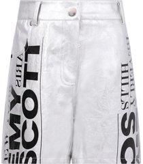 jeremy scott silver girl shorts with logo