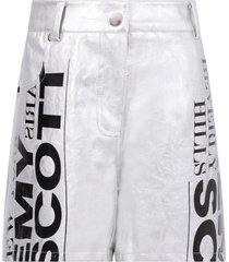 jeremy scott silver shorts for girl with logo