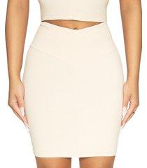 naked wardrobe v-waist mini skirt