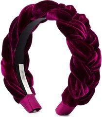jennifer behr lorelei braided headband - purple