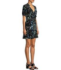 talisa floral combo flounce a-line dress