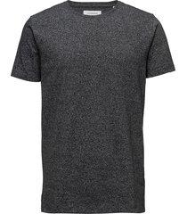 mouliné o-neck tee s/s t-shirts short-sleeved grå lindbergh
