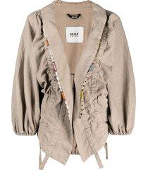 bazar deluxe asymmetric draped jacket - neutrals