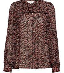 modesty bl blouse lange mouwen roze part two