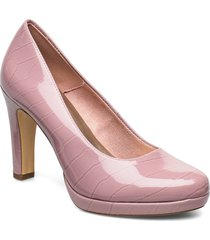 woms court shoe shoes heels pumps classic rosa tamaris