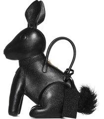 thom browne rabbit leather bag