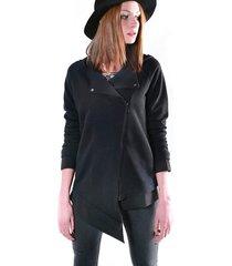 bluza fio asymetryczna-czarny
