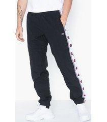 champion reverse weave elastic cuff pants byxor black
