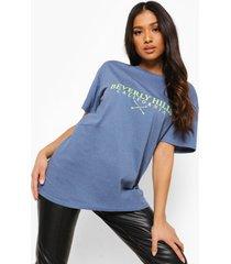 petite beverly hills t-shirt met opdruk, indigo