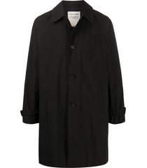 a kind of guise single-breasted coat - black