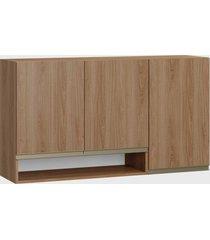 armário triplo c/ nicho madeira be mobiliário