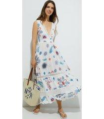long sleeveless dress - white - xl