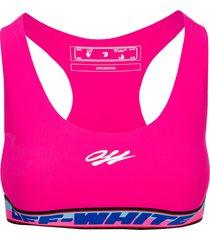 off white tape sport bra