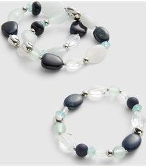 lane bryant women's 3-row beaded stretch bracelet set onesz night sky