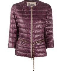 herno 3/4 sleeve puffer jacket - purple