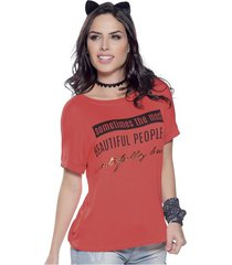 blusa coral atypical