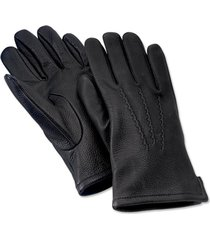 cashmere-lined deerskin glove, black, large