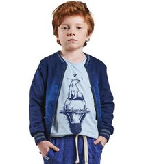 jaqueta infantil bugbee moletom jeans masculina