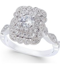 diamond vintage-look engagement ring (5/8 ct. t.w.) in 14k white gold