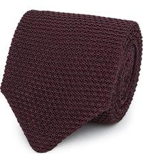 reiss jackson - silk knitted tie in bordeaux, mens
