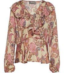 alora weave blouse blus långärmad multi/mönstrad mos mosh
