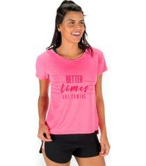 camiseta oxer better times + necessaire - feminina - rosa