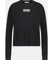 penn & ink w21f992 90-3 penn&ink sweater print black-sand