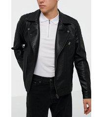 jack & jones jcorocky biker pu jacket jackor svart