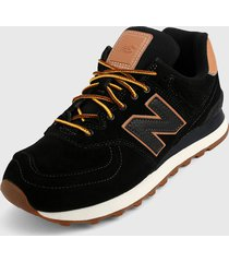 tenis lifestyle negro-camel new balance 574