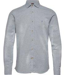 alton spread collar overhemd casual blauw morris