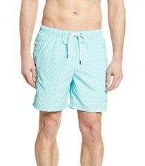 men's tommy bahama naples palms away swim trunks, size large - green
