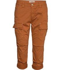 cheryl cargo 3/4 pant pantalon met rechte pijpen bruin mos mosh