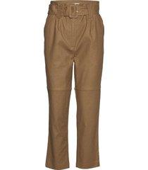 aliyah pants pantalon met rechte pijpen bruin modström