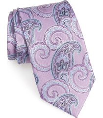 men's nordstrom men's shop paisley silk x-long tie, size x-long - purple