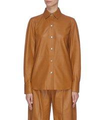lambskin leather shirt