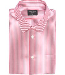 camisa manga larga thompson color siete para hombre - rojo