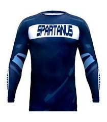 rash guard spartanus fightwear competition preto