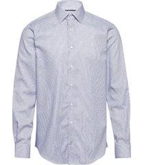 dobby design classic shirt overhemd business blauw tommy hilfiger tailored