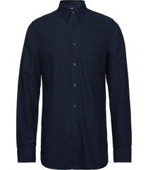daniel-light flannel overhemd casual blauw j. lindeberg